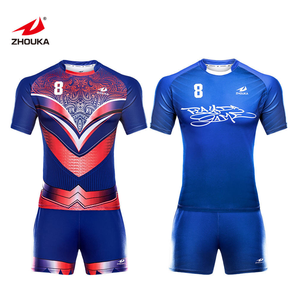 OEM Suppliers 2019 Rugby Jersey And Shorts Custom Rugby Shirt
