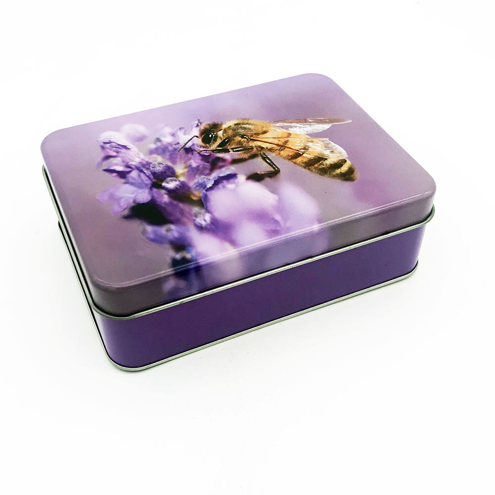 factory direct custom rectangle colorful packaging tin box