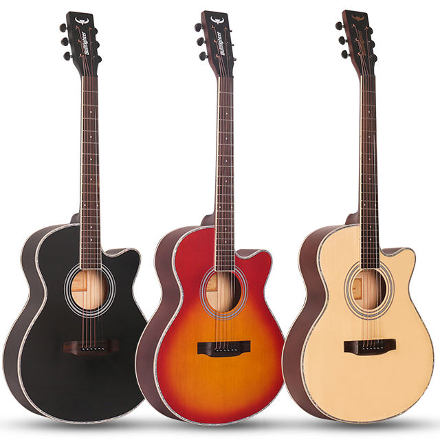 Factory OEM High Quality Bullfighter D-4012 Cheap Wholesale Price Beginner Colorful Acoustic Guitar stringed instruments guitar acustic