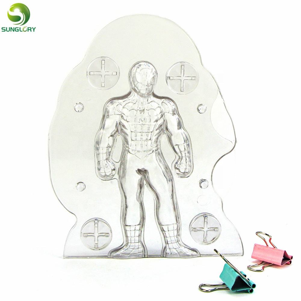 Handmade Plastic 3D Spiderman Chocolate Mold Stereo Spider Man Cake Mold Candy Jelly Mold Baking Pastry Cake Decorating Tools