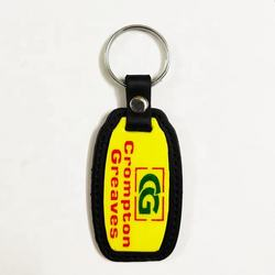 High Quality Manufacturer Of Leather Plastic Keychain Custom Logo Keyring