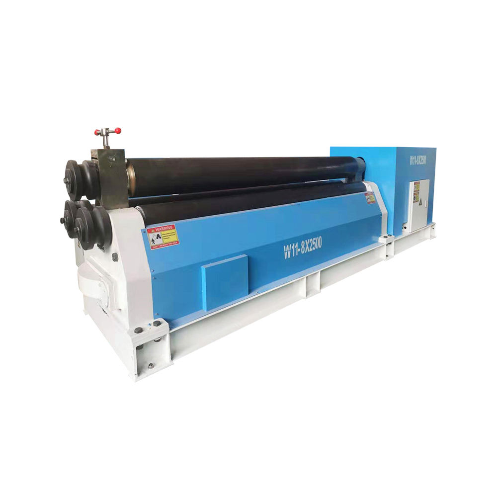 Popular W11 Symmetrical raised three roller coiling machine and conical rolling machine