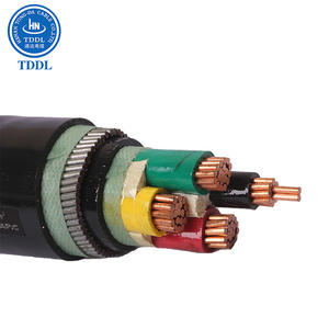 0.6/1kV 4 core copper conductor PVC insulated steel tape armored PVC sheathed power cable