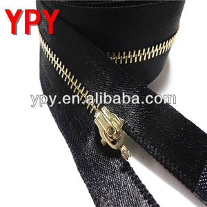 Imitation And Invisible Black Nickel Metal Zipper