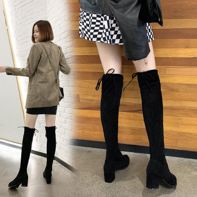 2020 Autumn new style Korean flip-flop mid-tube women's boots thick-soled hollow flying woven uggh boots for women