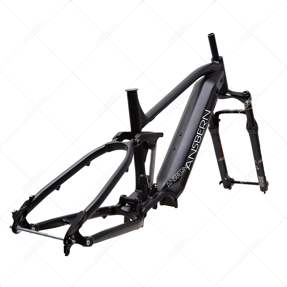 New full suspension e-bike MTB frame enduro carbon electric bike frame