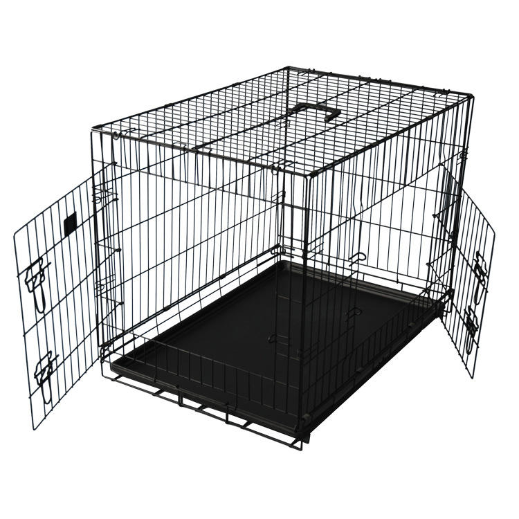 Wholesale Multiple Sizes Kennel Metal Foldable Stainless Steel Pet Dog Cage for Large Dog