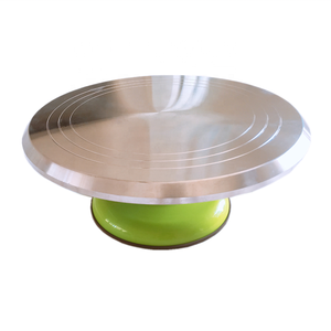 AK Multi-colored Aluminium Alloy Cake Turntable Non-slip Silicone Base Rotating Cake Stand for Bakery
