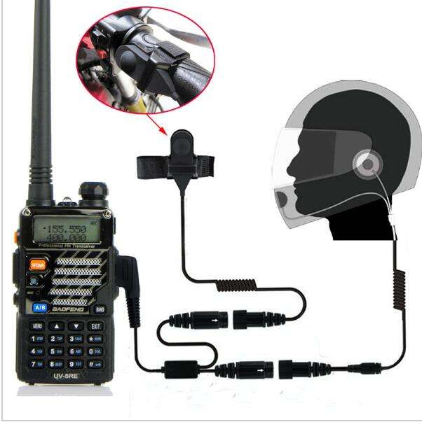2 Pin Finger PTT Headset Walkie Talkie Motorcycle Helmet Microphone For Kenwood For Baofeng For TYT For Motorola Two Way Radio