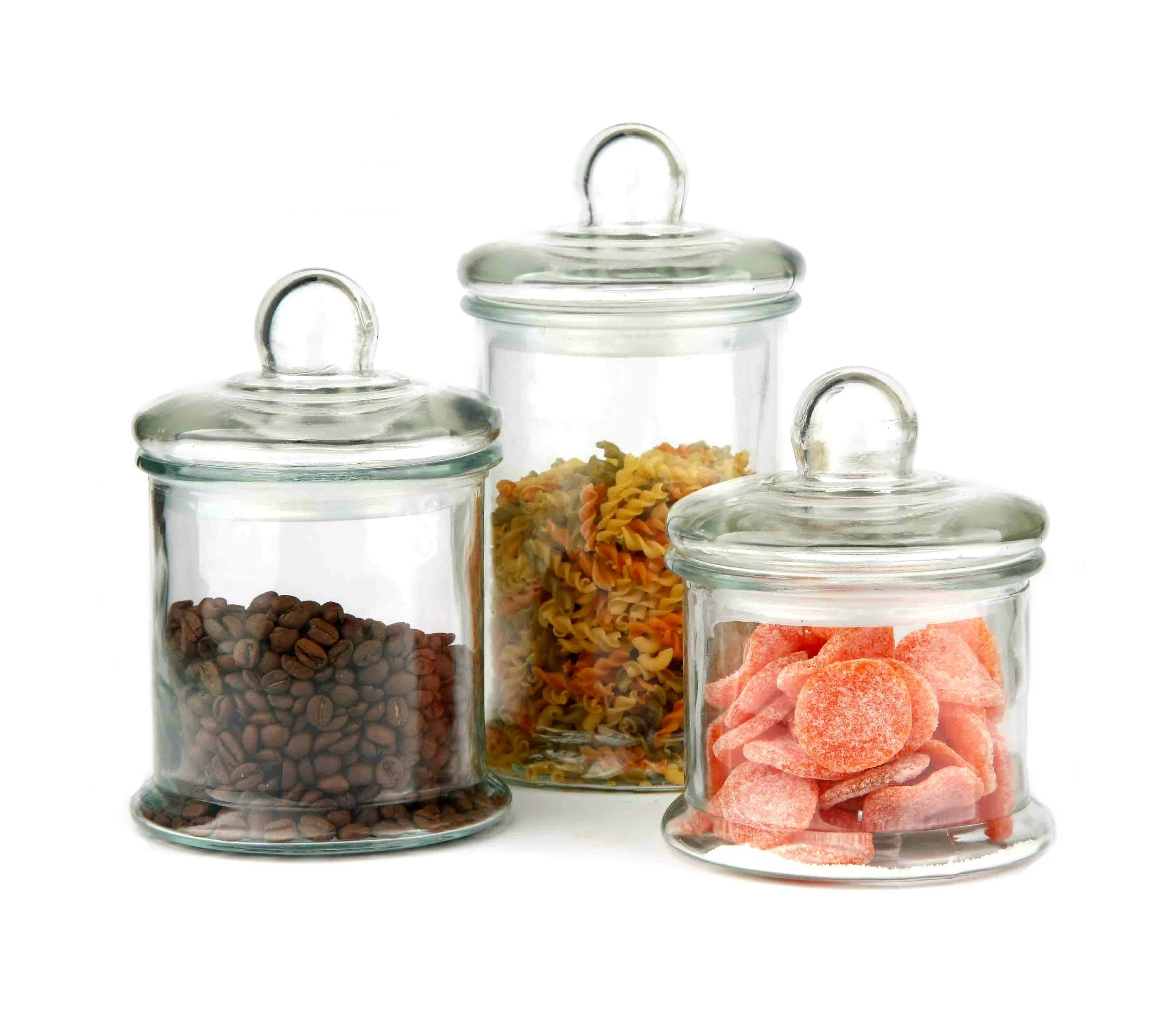 CP114 1700ml,1200ml,1000ml,650ml glass jar with glass lid for food storage
