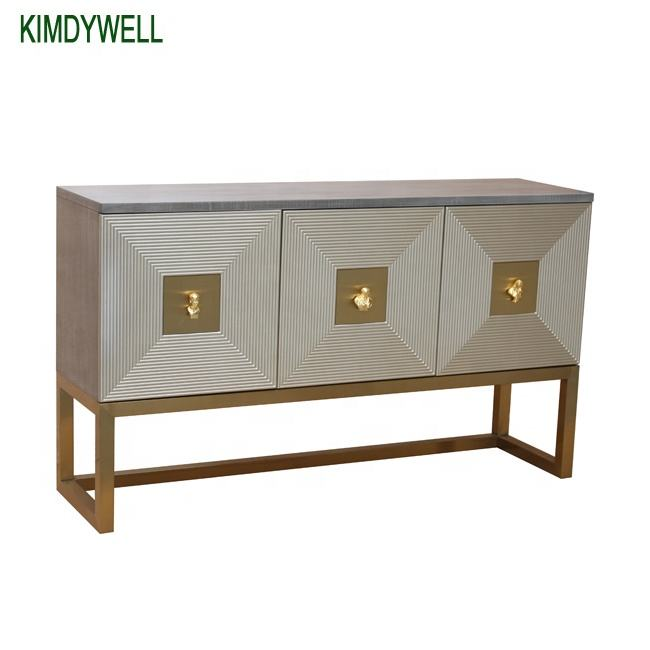 luxury design three doors sideboard gold stainless steel sideboards