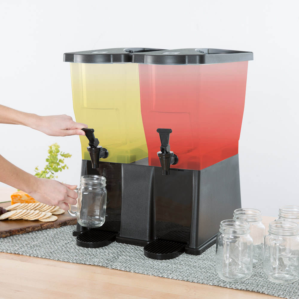 Wholesale OEM Commercial Fashion Plastic PP PC Clear Juice Drink Beverage Double Dispenser