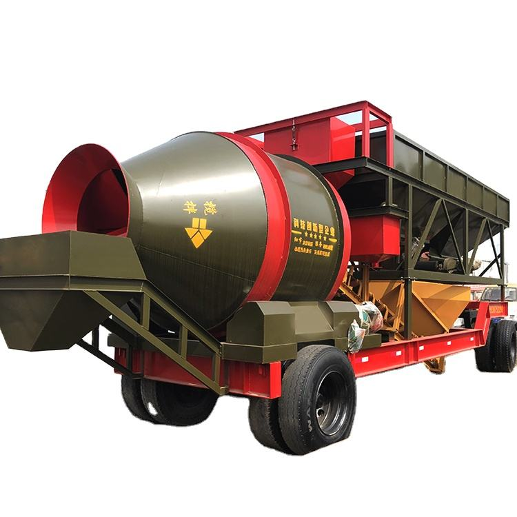 China trade wholesale mobile precast concrete drum mixing station for sale