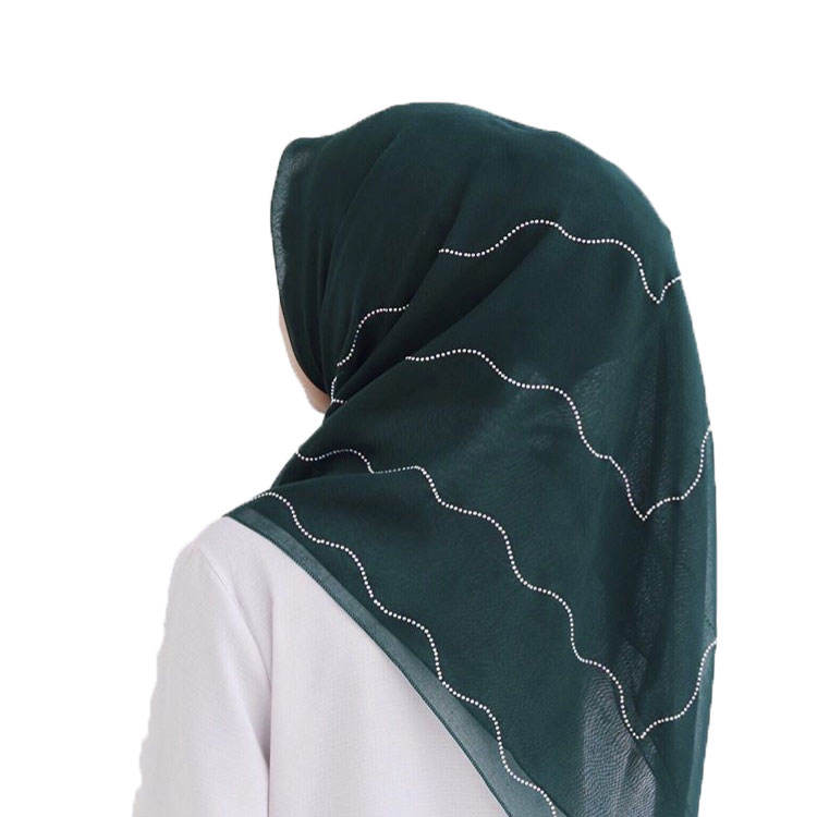 high quality hijabs cotton Muslim Women square Scarf Hijabs Shawl Malaysia Tudung Bawal Arab Long Wrap with crystal