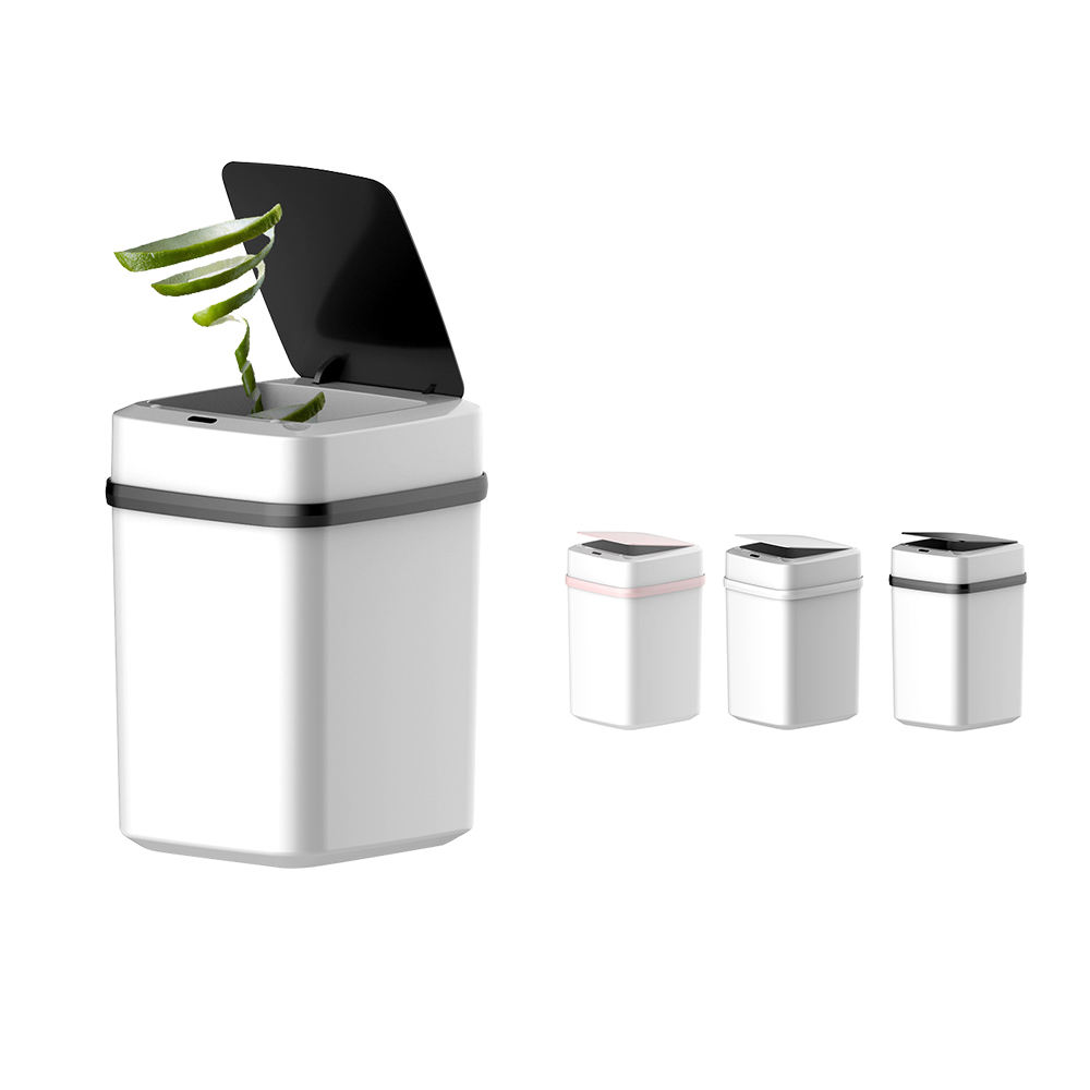 2020 Hot Selling 10L Smart Sensor Trash Can for Home Office, Automatic touch free foot pedal control car smart waste bins