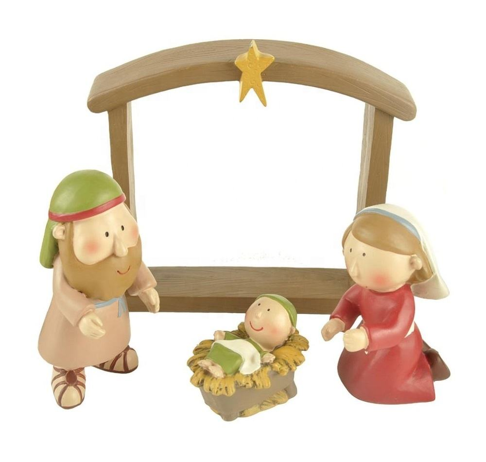 Interior and Christmas quality resin dwarf birth set decoration