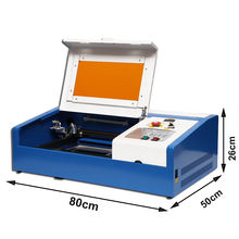 Laser Engraving Machine 40W CO2 3020 Laser Cutting Machine with Exhaust Fan USB Port