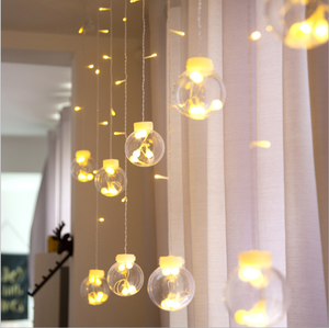 300 led window party curtain string light star diwali christmas led string light decorative