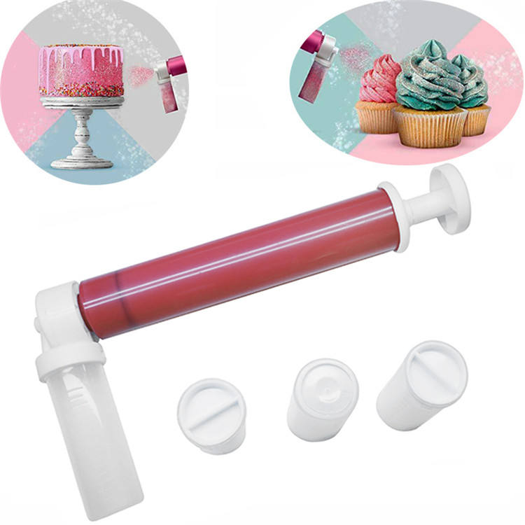 Cake Decor Tools Manual Cake Spray Gun Coloring Baking Decoration Tools Cake Pastry Dusting Spray Tube Bake DIY Color Spary Gun