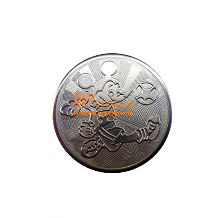 Threeplus cheap custom game tokens coins custom metal coins token for game