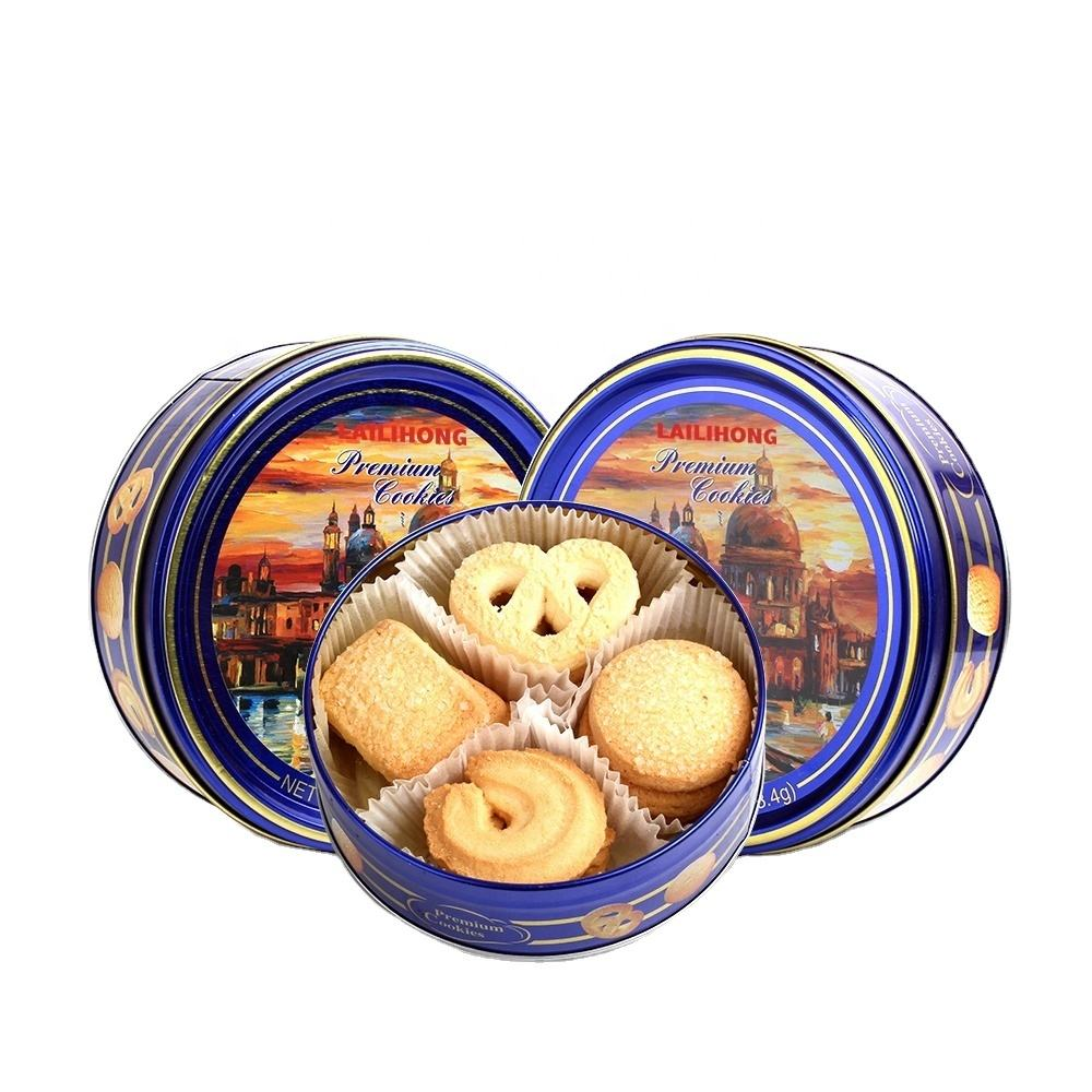 Promozionale Nizza City Night Scene dolce biscotto e cracker in tin box