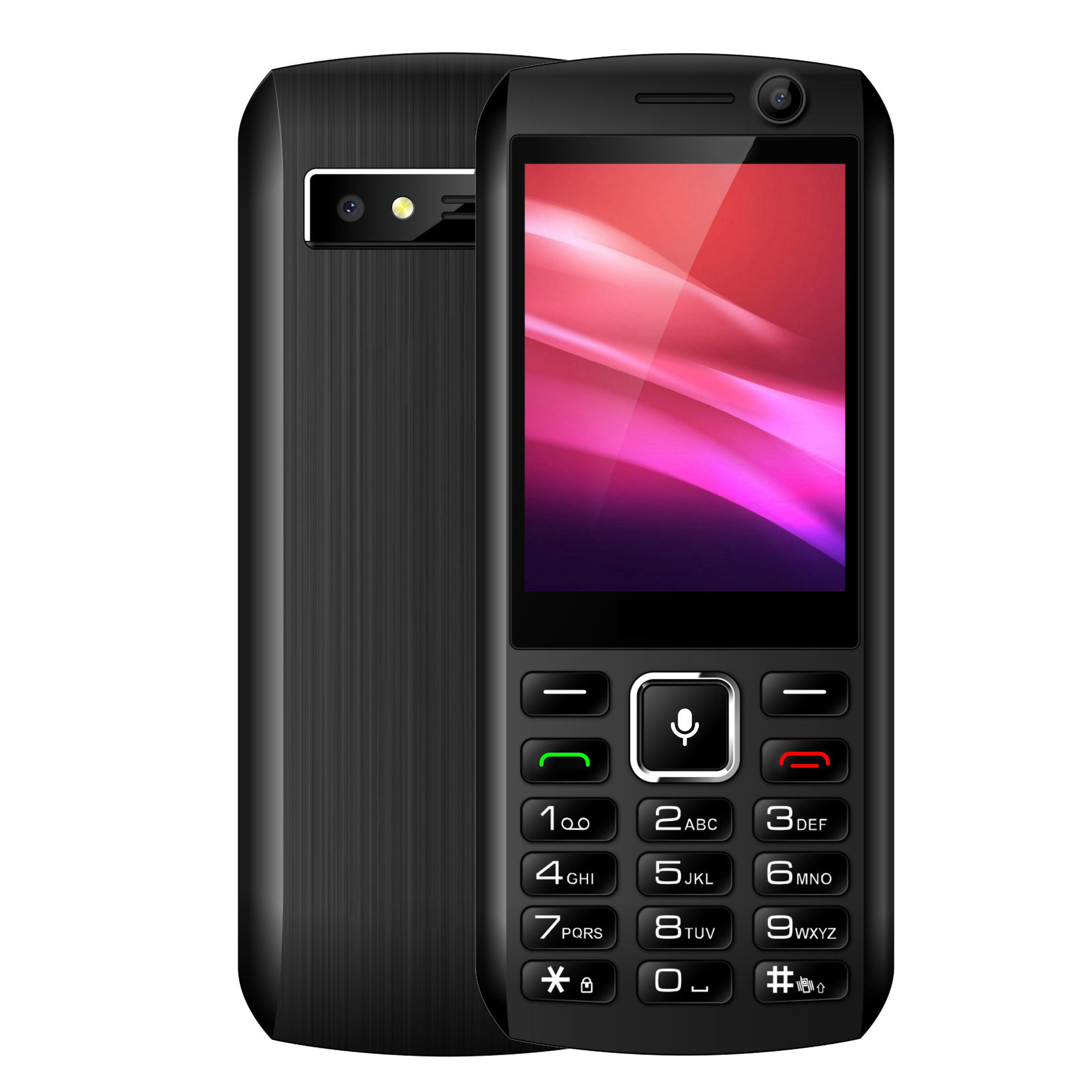 Factory OEM & ODM 2.8 inch screen 4G KaiOS bar keypad LTE smart feature phone with dual Camera