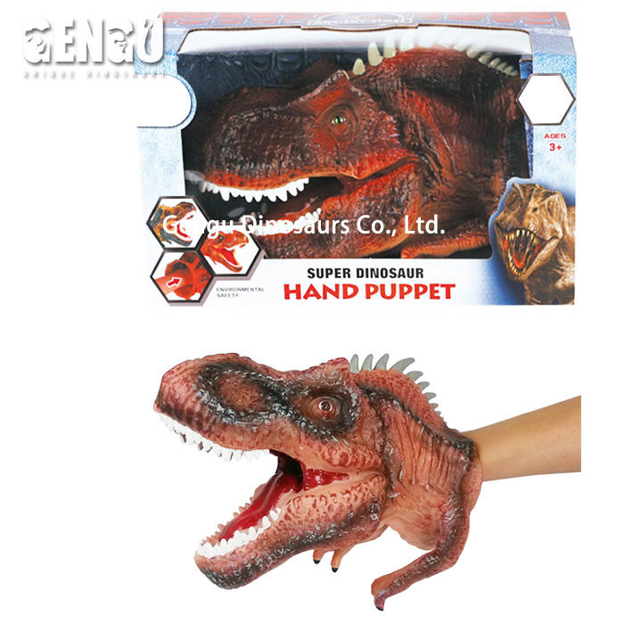 Soft Rubber Dinosaur Head Model Dinosaur Hand Puppet Toy