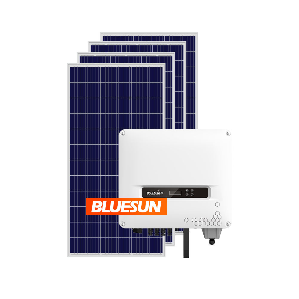 Bluesun 10Kw Complete Grid Tied Solar Photovoltaic System 10Kw Kit 10000W On-Grid Solar Systems For Home Paneles Solares 10000 w