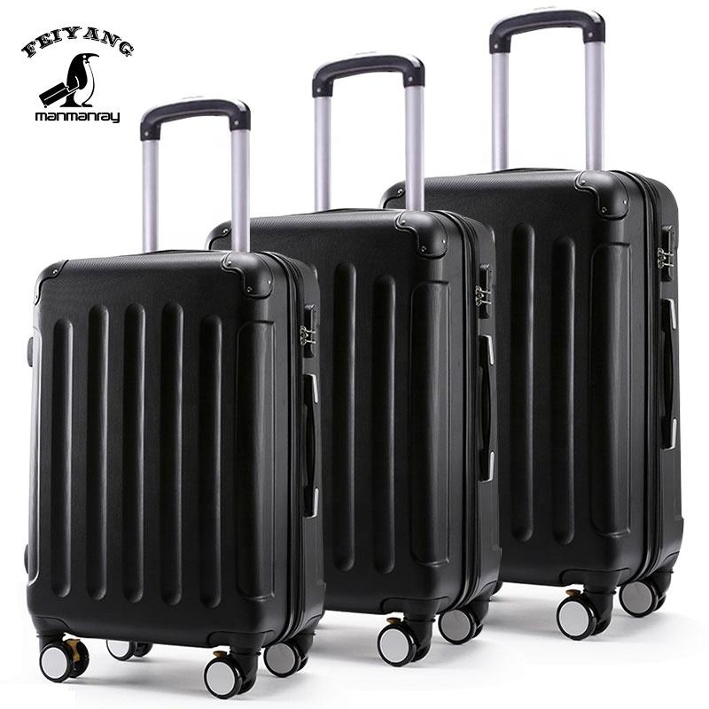 Factory wholesale ABS & PC valise travel set trolley luggage