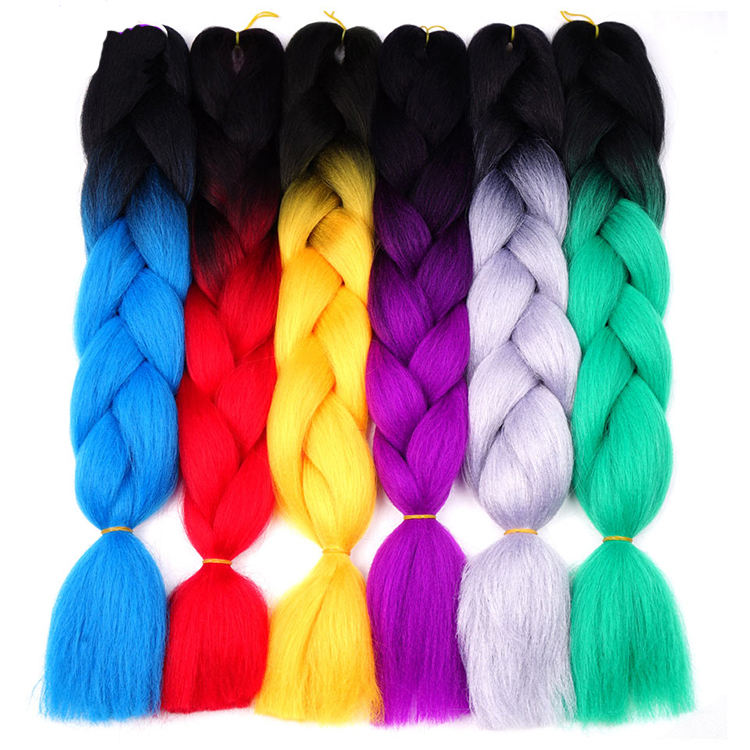 High Quality Private Label Wholesale OmbreJumbo Raw Material Braids Synthetic Hair Extension