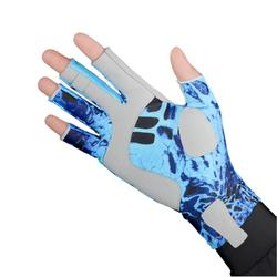 Breathable anti-skid sunscreen fishing gloves men's professional fishing gloves with five fingers