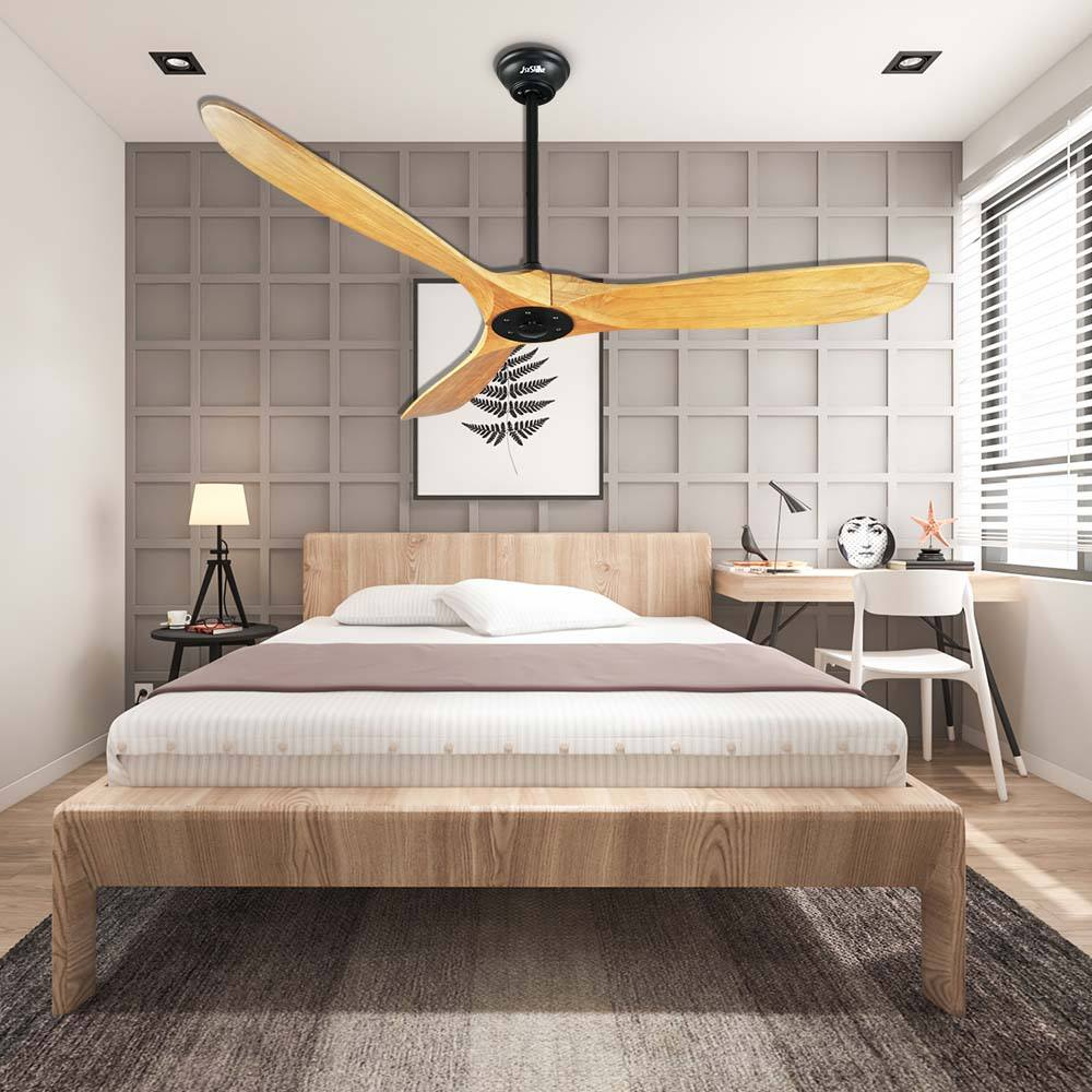 Remote Control Fan 1stshine Modern Decorative Dc Motor Luxury Wooden Blade Bldc Inverter Fancy Ceiling Fans With Remote Control