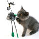 The Jumping Mouse Tickled The Cat Stick Interactive Pet Playing Fishing Rod Toy With Plush Mouse Toy Teaser Cat Plastic Wand Toy