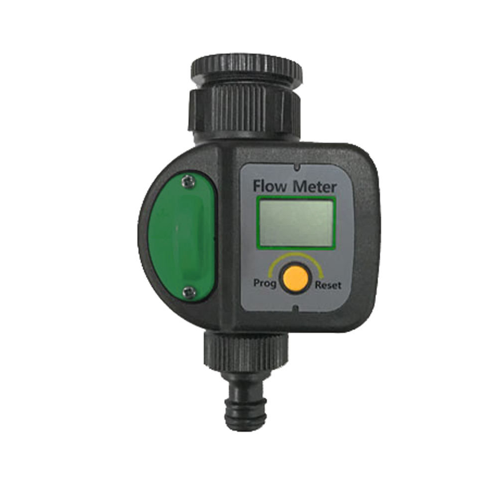 Professional LCD screen Watering Flow Timer With plastic dial watering flow calculation Digital flow meter
