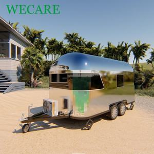 Factory hot sales caravan travel camper aluminum airstream trailer