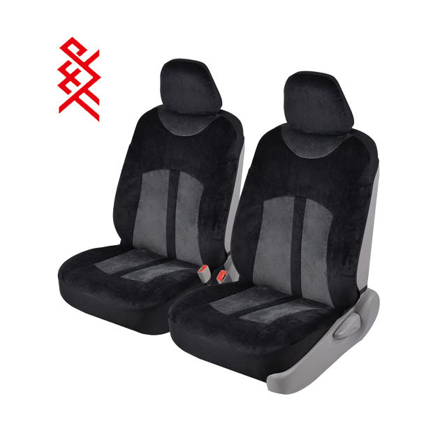 Truck AODELAI CO SUV LIMITED AUTOYOUTH 1PC Classic Integrated Front Bucket Seat Cover Polyester Fabric Black Auto Accessories Universal Fits for Most Cars