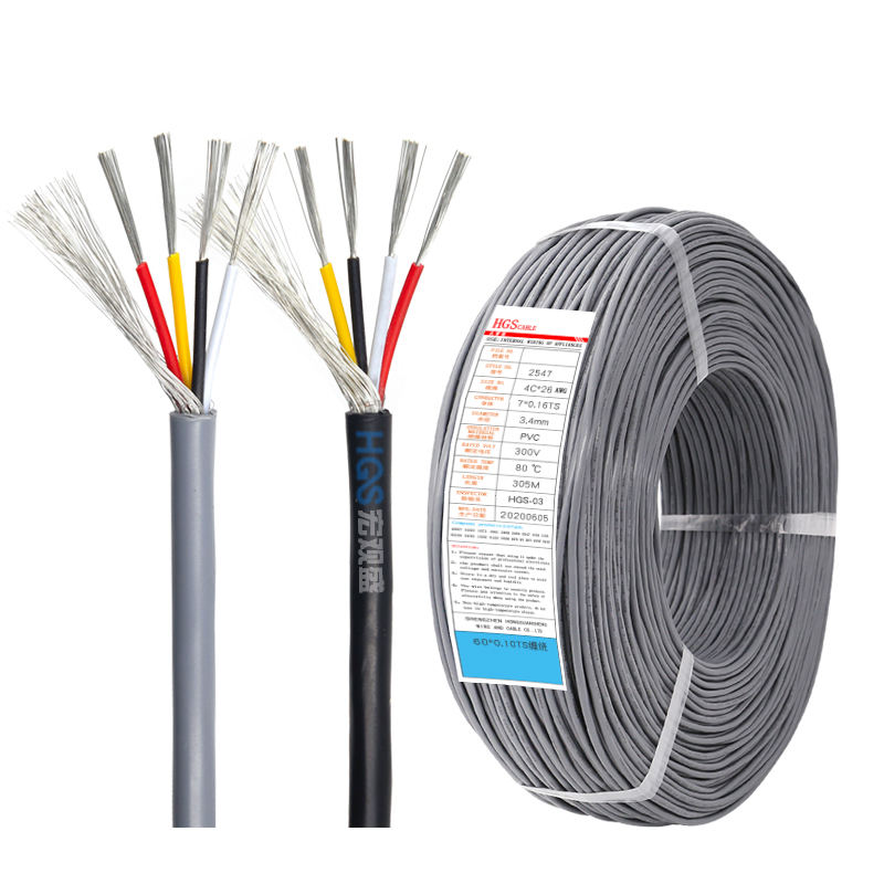 UL2547 Shield wire Multi core robot cavo 4c 18awg 20awg 22awg 24awg 26awg 28awg