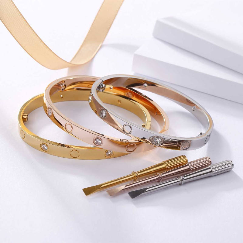 i love you more bracelets 316 stainless steel jewelry Bracelets Bangles for Woman Couple Gift Bijoux Femme