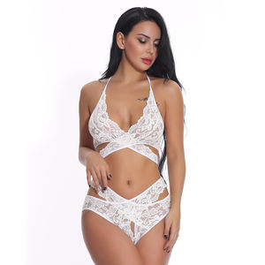 New Fashion Woman Girl Hot Sexy Lingerie Lace Transparent Nude Babydoll Sleepwear