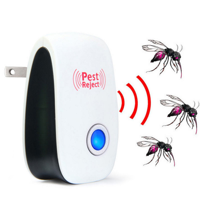 free shipping ultrasonic pest repeller mole indoor indoor solar mosquito repellent lamp flea pet garden insect killer for dogs