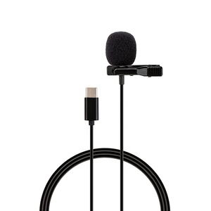 Professional Wired Hands Free Mini Lapel Clip Lavalier Microphone 8pin Type C Plug Teaching Live Broadcast Loudspeaker