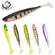 Vivid Soft Fishing Lure 3pcs 13cm 10g Silicone Bait Shad Worms Bass Pike Minnow Swimbait Rubber Fish Lures WW317