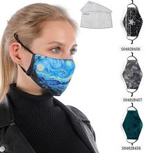 Washable Reusable Custom Ear Loop Designed 3D Nose Cloth Face Covers Mouth Cover With 2 Pcs Pm2.5 Pad