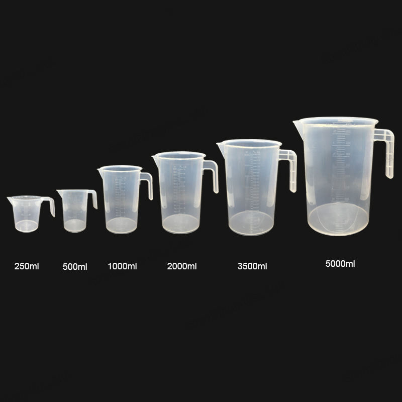 Durable Kitchen Use Bakery Measure Jug Plastic Measuring Cups Pitcher Tools