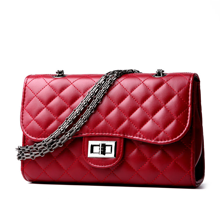 wholesale red new fashion designer office pu leather lady women business casual handbag small