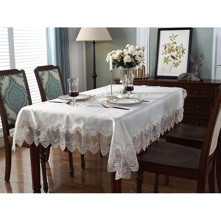 Nappe de table brodée, linge de table confortable, style rural, nouvelle collection 2020