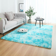 Tie-dyed Gradient Color Plush Super Soft Carpet Anti-slip Floor Table Mats Fluffy Area Rug For Living Room Bedroom Home Decor
