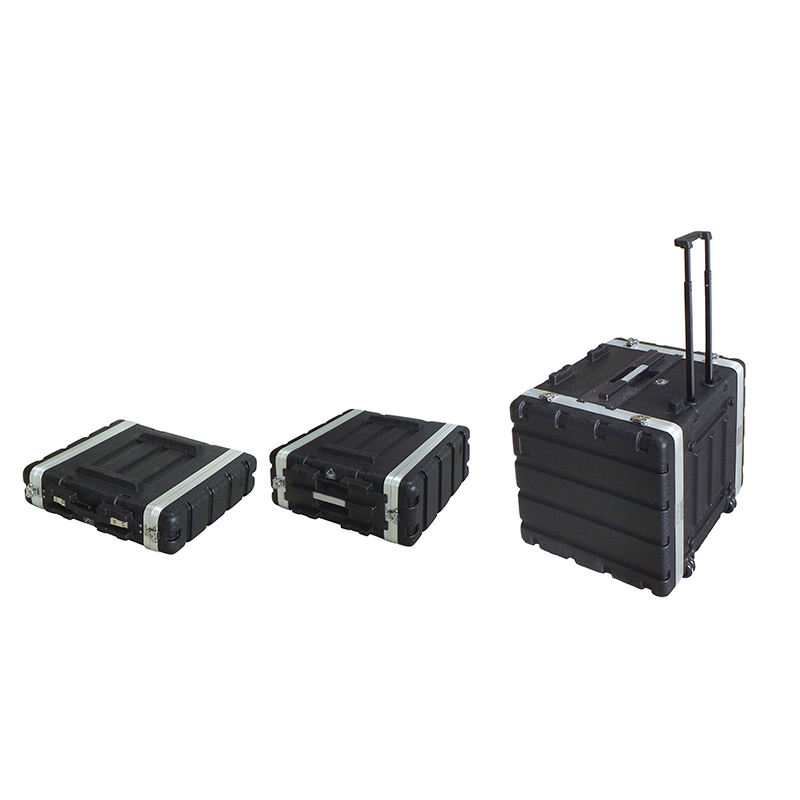 2U 4U 6U 8U 10U ABS Rack Flight Case / Plastic Rack mount Case / Amp cases