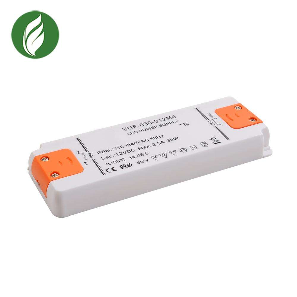 High power factor 30w ultra thin Fireproof enclosure12v 2.5a led drive power supply