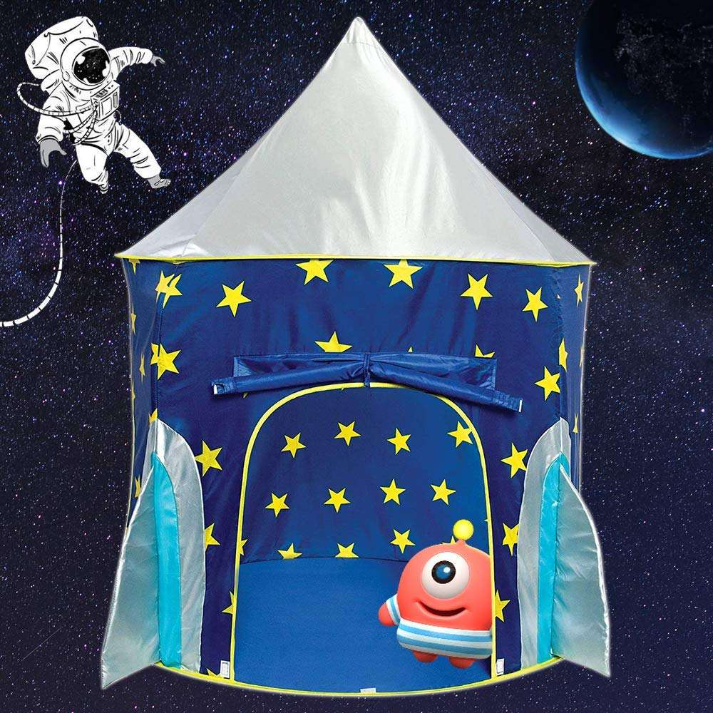 Hot Koop Princess Kasteel Rocket Schip Teepee Pop Up Indoor En Outdoor Fun Kids Play <span class=keywords><strong>Tent</strong></span> <span class=keywords><strong>Huis</strong></span>